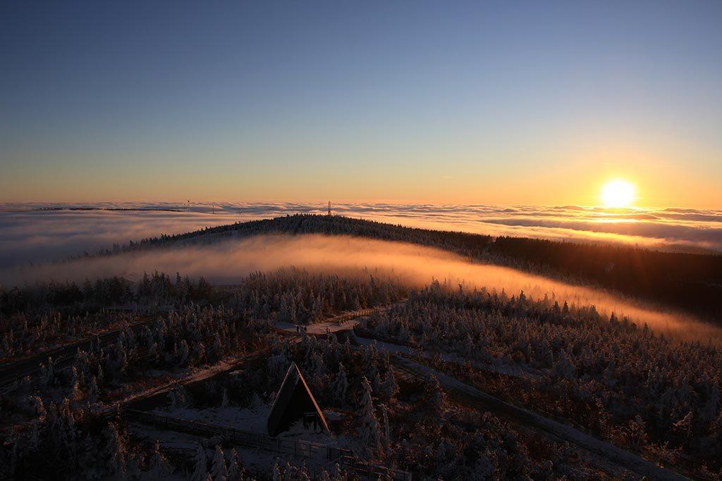 Sonnenaufgang im ErzgebirgeBlick ins Erzgebirge