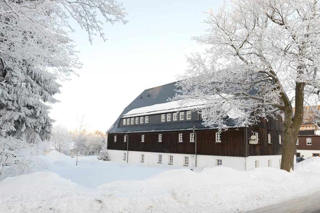 Waldgasthof Bad Einsiedel im Winter