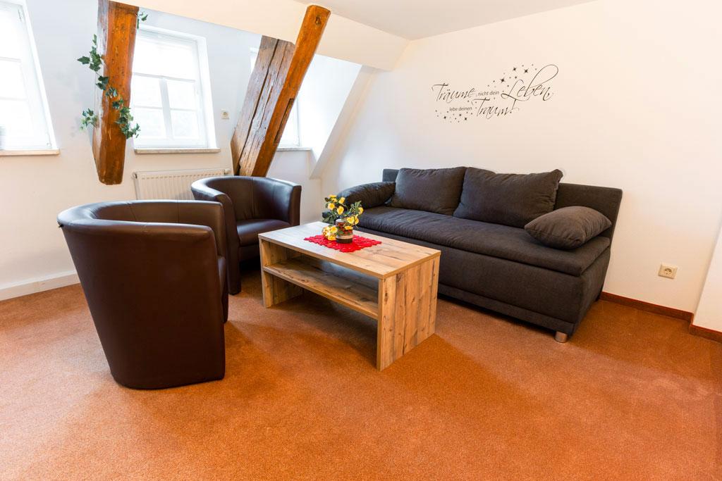 Aufenthaltsraum des Appartements für vier Personen